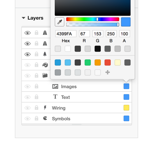 Example of a Rail Modeller color-picker interface
